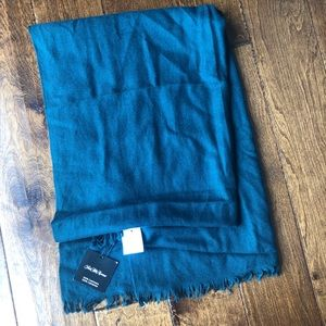 Saks fifth avenue dark teal 100% cashmere scarf